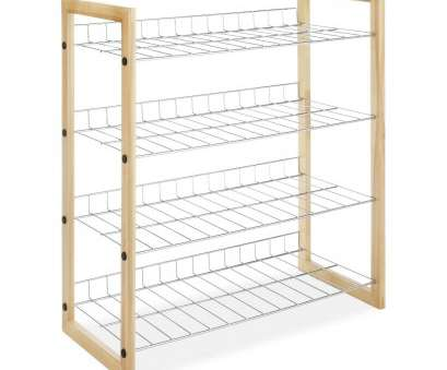 wire rack shelving ebay 4-Shelf Closet Shoe Rack with Natural Wood Frame, Chrome Wire Shelves* Wire Rack Shelving Ebay Professional 4-Shelf Closet Shoe Rack With Natural Wood Frame, Chrome Wire Shelves* Pictures