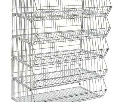 wire rack storage shelving Get Quotations · Stackable Wire Storage, Rack, 36