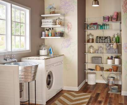 Wire Shelf Storage Ideas Creative 10 Clever Storage Ideas, Your Tiny Laundry Room, HGTV'S Solutions