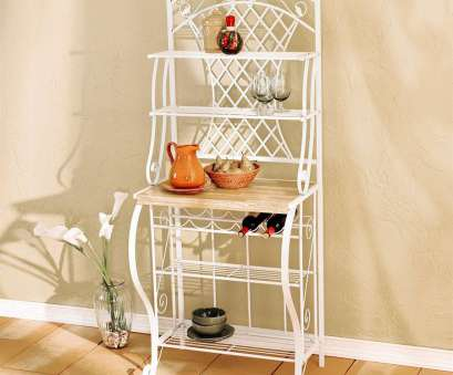 wire shelving bakers rack Boston Loft Furnishings Trellis White Metal Bakers Rack with Wine Storage Wire Shelving Bakers Rack Fantastic Boston Loft Furnishings Trellis White Metal Bakers Rack With Wine Storage Collections