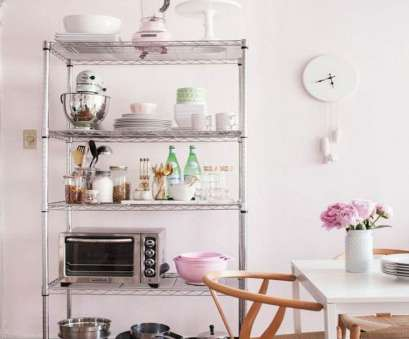 Wire Shelving Decorating Ideas Brilliant 12 Smart Ways To, Wire Shelves In Your Kitchen, Kitchens Pictures