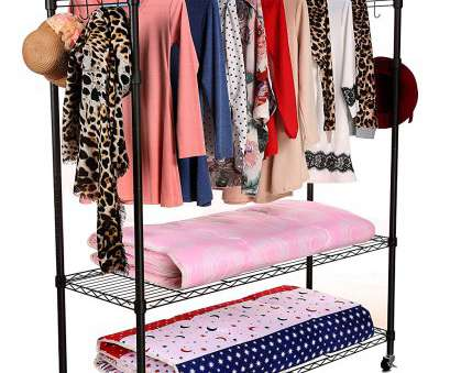 wire shelving garment rack Amazon.com: Homdox 3-Tiers, Size Heavy Duty Wire Shelving Unit Garment Rack with Hanger, Wheels+2 Pair Side Hooks,Black: Home & Kitchen Wire Shelving Garment Rack Simple Amazon.Com: Homdox 3-Tiers, Size Heavy Duty Wire Shelving Unit Garment Rack With Hanger, Wheels+2 Pair Side Hooks,Black: Home & Kitchen Collections