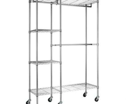 wire shelving garment rack Sandusky 4-Shelf 48, W x 74, H x 18, D Steel Garment Rack in Chrome with Wheels Wire Shelving Garment Rack New Sandusky 4-Shelf 48, W X 74, H X 18, D Steel Garment Rack In Chrome With Wheels Pictures