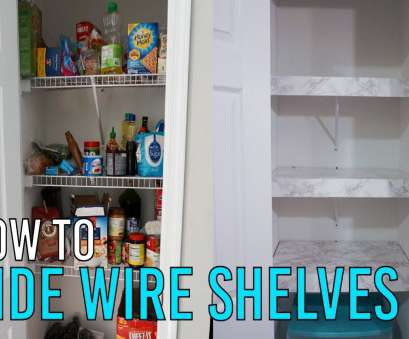 wire shelving for pantry How to Hide Wire Shelves (Renter Friendly) Wire Shelving, Pantry Most How To Hide Wire Shelves (Renter Friendly) Solutions