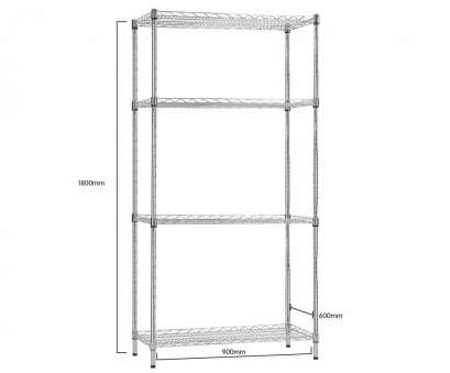 wire shelving units australia Syncrosteel Chrome Wire Shelving Storage Unit -, x 600mm, 1.8m high Syncrosteel Chrome Wire Shelving Storage Unit -, x 600mm, 1.8m high