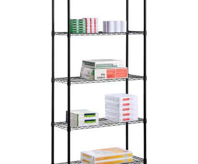 Wire Shelving Units, Bath Beyond Cleaver 5-Tier UltraZinc, Steel Wire Shelving /W Wheels, 18X48X72, Walmart.Com Photos