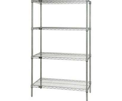 Wire Shelving Units, Bath Beyond Professional Shop Quantum Storage Systems 74-In, 36-In, 18-In D 4-Shelf Pictures