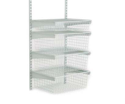 wire shelving units for closets ClosetMaid 17, D x 21, W x 27, H ShelfTrack 4-Drawer Kit Wire Shelving Units, Closets Brilliant ClosetMaid 17, D X 21, W X 27, H ShelfTrack 4-Drawer Kit Solutions