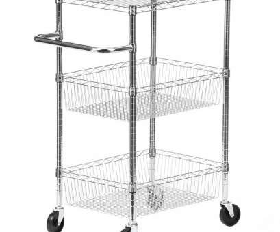 wire shelving with baskets Honey-Can-Do 3-Tier Steel Wire Heavy Duty Rolling Storage Cart in Chrome Wire Shelving With Baskets Professional Honey-Can-Do 3-Tier Steel Wire Heavy Duty Rolling Storage Cart In Chrome Solutions