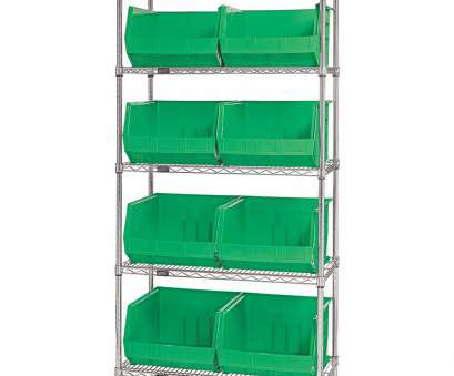 wire shelving with bins 36
