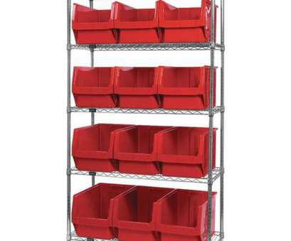 wire shelving with bins ..., Wire Shelving Unit with 12 Magnum Bins -, is on sale now 18 Best Wire Shelving With Bins Pictures