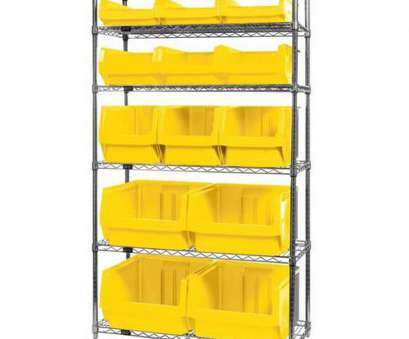 wire shelving with bins ..., Wire Shelving Unit with 13 Magnum Bins, Yellow is on sale now Wire Shelving With Bins Top ..., Wire Shelving Unit With 13 Magnum Bins, Yellow Is On Sale Now Ideas
