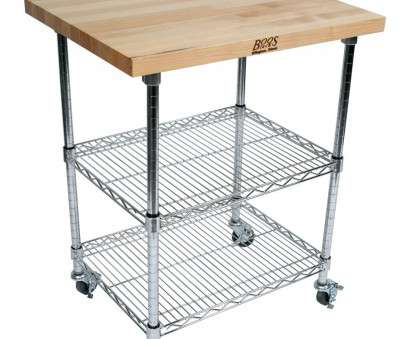 wire shelving with butcher block top John Boos Butcher Block & Chrome Metro Kitchen Cart 13 Fantastic Wire Shelving With Butcher Block Top Ideas