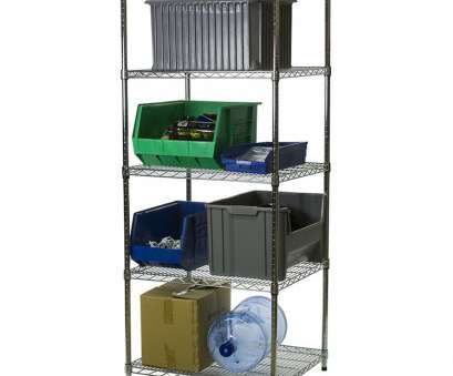wire shelving with desk 24