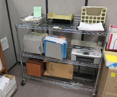 wire shelving with desk 3-Shelf Wire Shelving on Wheels, Oahu Auctions Wire Shelving With Desk Top 3-Shelf Wire Shelving On Wheels, Oahu Auctions Solutions