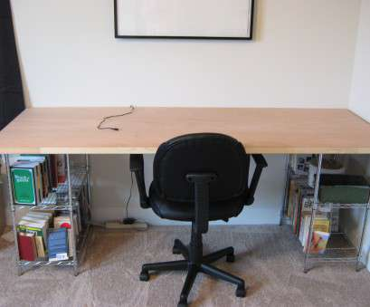 wire shelving with desk Fake-It Frugal: Fake Leather & Chrome Desk Wire Shelving With Desk Fantastic Fake-It Frugal: Fake Leather & Chrome Desk Photos