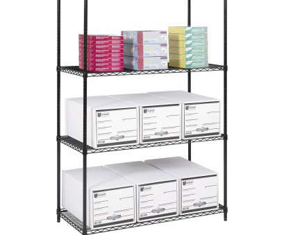 wire shelving with desk Industrial Wire Shelving, 48 x 24