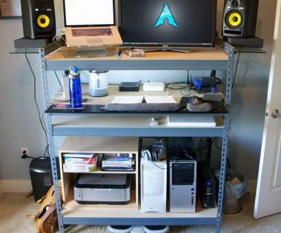 wire shelving with desk Shelf-Made Standing Desk Wire Shelving With Desk Top Shelf-Made Standing Desk Solutions
