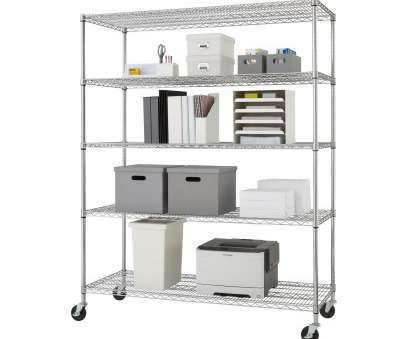 wire shelving with desk Shop Trinity 5-tier Heavy Duty Commercial Chrome Wire Shelving Rack with Wheels, Free Shipping Today, Overstock.com, 6243086 Wire Shelving With Desk Popular Shop Trinity 5-Tier Heavy Duty Commercial Chrome Wire Shelving Rack With Wheels, Free Shipping Today, Overstock.Com, 6243086 Ideas