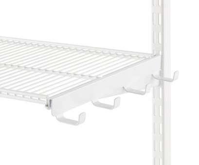 wire shelving with hooks White Elfa Ventilated Wire Shelf Bracket Hooks 10 Popular Wire Shelving With Hooks Images