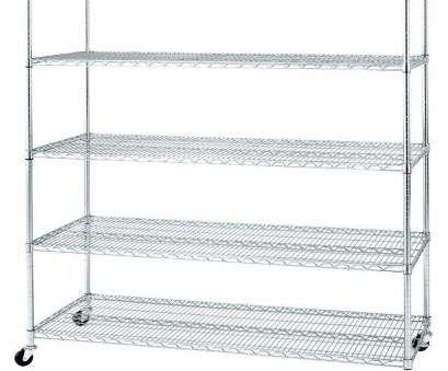 wire shelving with wheels Seville Classics 72, H x 60, W x 24, D 5-Shelves UltraZinc Steel Wire Free Standing Shelves with Casters/Wheels 12 Fantastic Wire Shelving With Wheels Photos