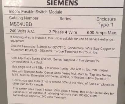 wire size, amp service popular siemens ms64ubd indoor fusible switch  module, volt 3 phase
