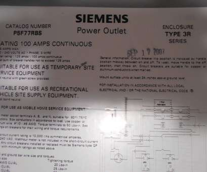wire size 125 amp service Siemens P5F77RBS Power Outlet Panel, 120/240vac 1-phase 3-wire, eBay Wire Size, Amp Service Top Siemens P5F77RBS Power Outlet Panel, 120/240Vac 1-Phase 3-Wire, EBay Ideas