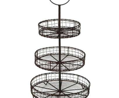 wire storage basket on stand Amazon.com: YRHD,INC Antique Style Metal Wire 3 Tier Rack Display Stand Basket Rustic Farmhouse Decor: Home & Kitchen Wire Storage Basket On Stand Best Amazon.Com: YRHD,INC Antique Style Metal Wire 3 Tier Rack Display Stand Basket Rustic Farmhouse Decor: Home & Kitchen Images