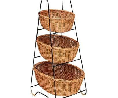 wire storage basket on stand Oval Rattan 3-Tier Basket Floor Stand -, x, x 42H Wire Storage Basket On Stand Cleaver Oval Rattan 3-Tier Basket Floor Stand -, X, X 42H Images