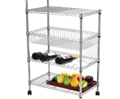 wire storage basket on stand Shop Costway 4-Tier Steel Rolling Kitchen Trolley Cart Island Wire Rack Basket Shelf Stand, Free Shipping Today, Overstock.com, 18242567 Wire Storage Basket On Stand Creative Shop Costway 4-Tier Steel Rolling Kitchen Trolley Cart Island Wire Rack Basket Shelf Stand, Free Shipping Today, Overstock.Com, 18242567 Collections