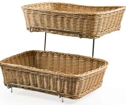 wire storage basket on stand Tiered Wire Rack w/ 2 Woven Baskets, Brown Wire Storage Basket On Stand Professional Tiered Wire Rack W/ 2 Woven Baskets, Brown Solutions