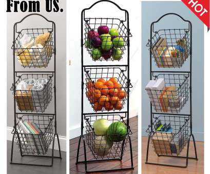 wire storage basket on stand Wire Storage Basket, Shelving 3 Tier Rack Bathroom Tool Organizer Fruit Stand Wire Storage Basket On Stand New Wire Storage Basket, Shelving 3 Tier Rack Bathroom Tool Organizer Fruit Stand Pictures