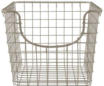 wire storage basket with lid Wire Storage Basket, Nickel Image 8 Professional Wire Storage Basket With Lid Ideas