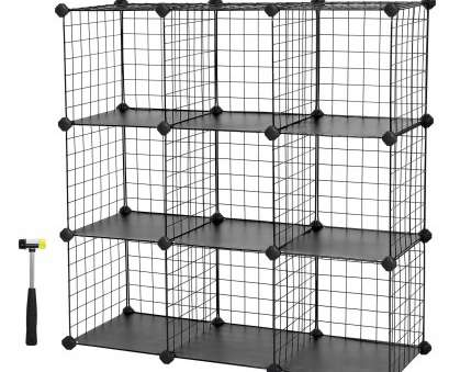 wire storage shelf modular SONGMICS Metal Wire Storage Cubes,, 9-Cube Closet Cabinet, Modular Shelving Grids 14 Simple Wire Storage Shelf Modular Photos
