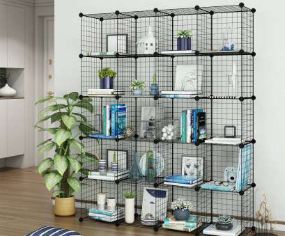 wire storage shelf modular Get Quotations · Tespo Wire Cube Storage Shelves Book Shelf Metal Bookcase Shelving Closet Organization System, Modular Grid Wire Storage Shelf Modular Nice Get Quotations · Tespo Wire Cube Storage Shelves Book Shelf Metal Bookcase Shelving Closet Organization System, Modular Grid Solutions