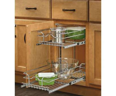 wire storage shelves for kitchen cabinets Rev-A-Shelf 18-inch Deep 2-tiered Wire Baskets (Extra Small, 8.75, 18