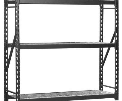 Wire Storage Shelves Lowes Creative Edsal 72, H X 77, W X 24, D 3-Wire Shelf Steel Storage Rack In Black Collections