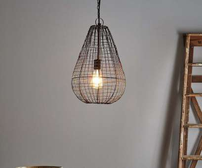 wire weave pendant light An open wire weave pendant in rust finish that creates visual interest while maintaining an open 11 Best Wire Weave Pendant Light Ideas