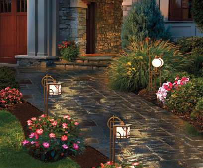 wired landscape lighting CI-kichler-lighting_stake-landscape-lighting-path5_s3x4 13 Top Wired Landscape Lighting Collections