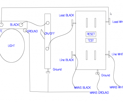 wiring a gfci outlet with a light switch diagram GFCI receptacle with a light fixture with an on/off switch in Wiring A Gfci Outlet With A Light Switch Diagram Popular GFCI Receptacle With A Light Fixture With An On/Off Switch In Ideas