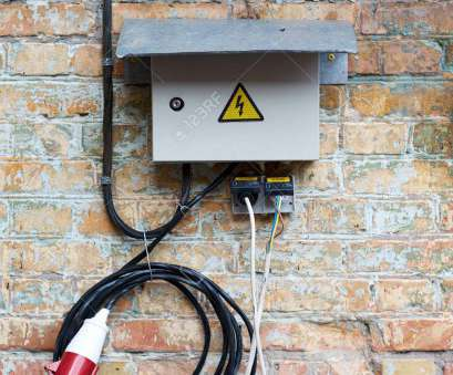 wiring a knife switch Outdoor Electric control cabinet, electrical equipment on brick wall with wires, plug jack Wiring A Knife Switch Practical Outdoor Electric Control Cabinet, Electrical Equipment On Brick Wall With Wires, Plug Jack Images
