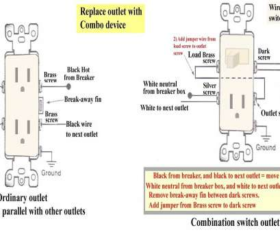 wiring a light switch outlet combo Wiring Diagram, Light Switch Outlet Combo Fresh Electrical Also 3 Way 16 New Wiring A Light Switch Outlet Combo Ideas