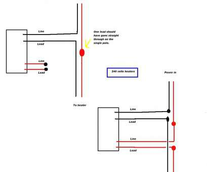wiring a single pole toggle switch most double pole thermostat wiring  diagram on stats, bright