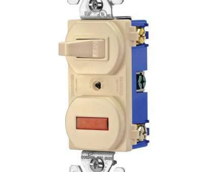 Wiring A Single Pole Toggle Switch Best Eaton Heavy-Duty Grade 15, Combination Single Pole Toggle Switch, Pilot Light In Ivory Pictures