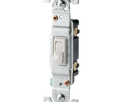 Wiring A Single Pole Toggle Switch Popular Shop Eaton 15-Amp Single Pole White Toggle Indoor Light Switch At Images