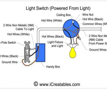 wiring a single switch Single Pole Dimmer Switch Wiring Diagram With Blueprint Images, Light 17 Creative Wiring A Single Switch Images