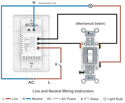 wiring a switch common Option 2: Connect Yoswit 3-way switch with common 3-way switch, 3-wire (with neutral wire) 14 Perfect Wiring A Switch Common Ideas