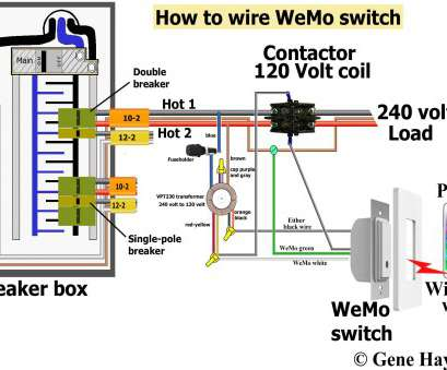 wiring a switch contactor Control, Volt with WeMo Wiring A Switch Contactor Top Control, Volt With WeMo Images