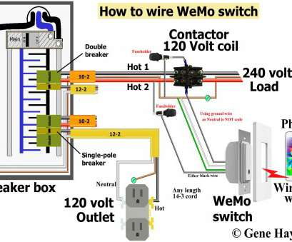 wiring a switch contactor Use wiring diagram shown above. Override WeMo switch Wiring A Switch Contactor Practical Use Wiring Diagram Shown Above. Override WeMo Switch Galleries
