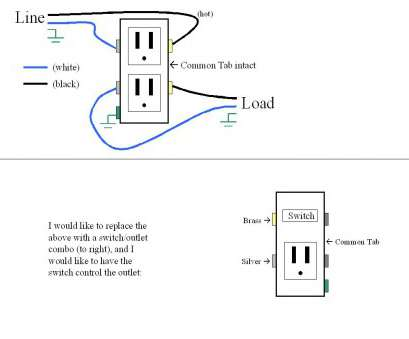 wiring a switch outlet Switch Plug Wiring Diagram Diagrams Schematics, Outlet Wire 15 Top Wiring A Switch Outlet Pictures
